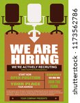 we are hiring poster or banner... | Shutterstock .eps vector #1173562786