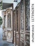 beatiful old doors of jaffa ... | Shutterstock . vector #1173562876