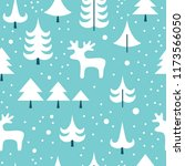 christmas pattern with... | Shutterstock .eps vector #1173566050