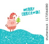 Funny Christmas Pigs  Greeting...