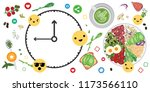 vector illustration of food and ... | Shutterstock .eps vector #1173566110