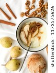 a bowl of porridge with... | Shutterstock . vector #1173575626