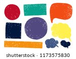hand drawn callout clouds and...   Shutterstock .eps vector #1173575830