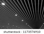 underside view of lath ceiling... | Shutterstock . vector #1173576910
