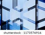 abstract modern architecture.... | Shutterstock . vector #1173576916