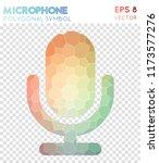 mic polygonal symbol ...   Shutterstock .eps vector #1173577276