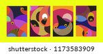 vector abstract colorful... | Shutterstock .eps vector #1173583909