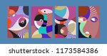 vector abstract colorful... | Shutterstock .eps vector #1173584386
