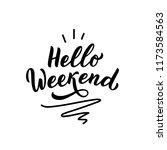 hand drawn lettering phrase... | Shutterstock .eps vector #1173584563