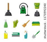 isolated object of cleaning and ... | Shutterstock .eps vector #1173592240