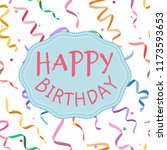 happy birthday sign on... | Shutterstock .eps vector #1173593653