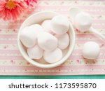 pink marshmallows in a bowl | Shutterstock . vector #1173595870