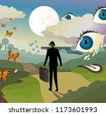surrealism landscape background | Shutterstock .eps vector #1173601993