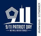 9 11 patriot day. september 11  ... | Shutterstock .eps vector #1173606829