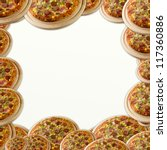 background with pizza | Shutterstock . vector #117360886