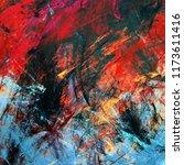 bright artistic splashes.... | Shutterstock . vector #1173611416