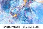 artistic splashes. abstract... | Shutterstock . vector #1173611683