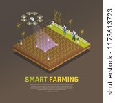 agriculture automation smart... | Shutterstock .eps vector #1173613723