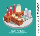 drastic plastic isometric... | Shutterstock .eps vector #1173614080