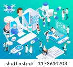 mobile devices telemedicine... | Shutterstock .eps vector #1173614203
