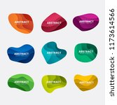 abstract badge design vector set | Shutterstock .eps vector #1173614566