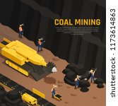 miners during coal production... | Shutterstock .eps vector #1173614863