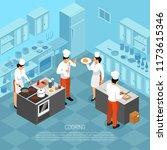 professional cooks chef kitchen ...   Shutterstock .eps vector #1173615346
