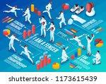 isometric fencing horizontal... | Shutterstock .eps vector #1173615439