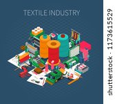 textile industry isometric... | Shutterstock .eps vector #1173615529