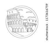line medieval coliseum rome... | Shutterstock .eps vector #1173616759
