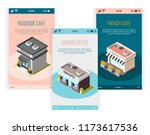 isometric banners set with... | Shutterstock .eps vector #1173617536