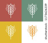 ear of wheat icons on earth...   Shutterstock .eps vector #1173626239