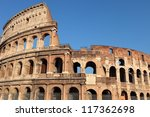colosseum amphitheater in rome  ... | Shutterstock . vector #117362698