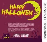 halloween design set flyer ... | Shutterstock .eps vector #1173627910