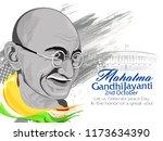 gandhi jayanti or 2nd october... | Shutterstock .eps vector #1173634390