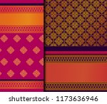 indian pattu sari vector... | Shutterstock .eps vector #1173636946