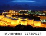oil tanks at night | Shutterstock . vector #117364114