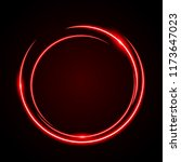 Abstract Circle Light Red Frame ...