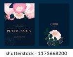 wedding invitation  floral... | Shutterstock .eps vector #1173668200