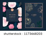 wedding invitation  floral... | Shutterstock .eps vector #1173668203