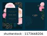 wedding invitation  floral... | Shutterstock .eps vector #1173668206