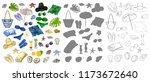 vector illustration set with... | Shutterstock .eps vector #1173672640