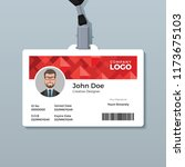 red diamond id card template   Shutterstock .eps vector #1173675103