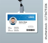 modern blue polygon id card... | Shutterstock .eps vector #1173675106