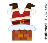 santa claus caught upside down... | Shutterstock .eps vector #1173676549