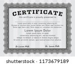 grey awesome certificate... | Shutterstock .eps vector #1173679189