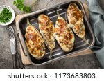 stuffed eggplant with meat ... | Shutterstock . vector #1173683803