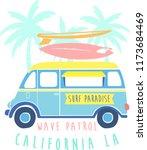 cool surf van vector... | Shutterstock .eps vector #1173684469