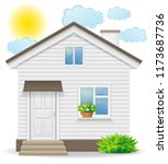 small country house... | Shutterstock . vector #1173687736