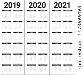 year 2019 2020 2021 calendar... | Shutterstock .eps vector #1173696493